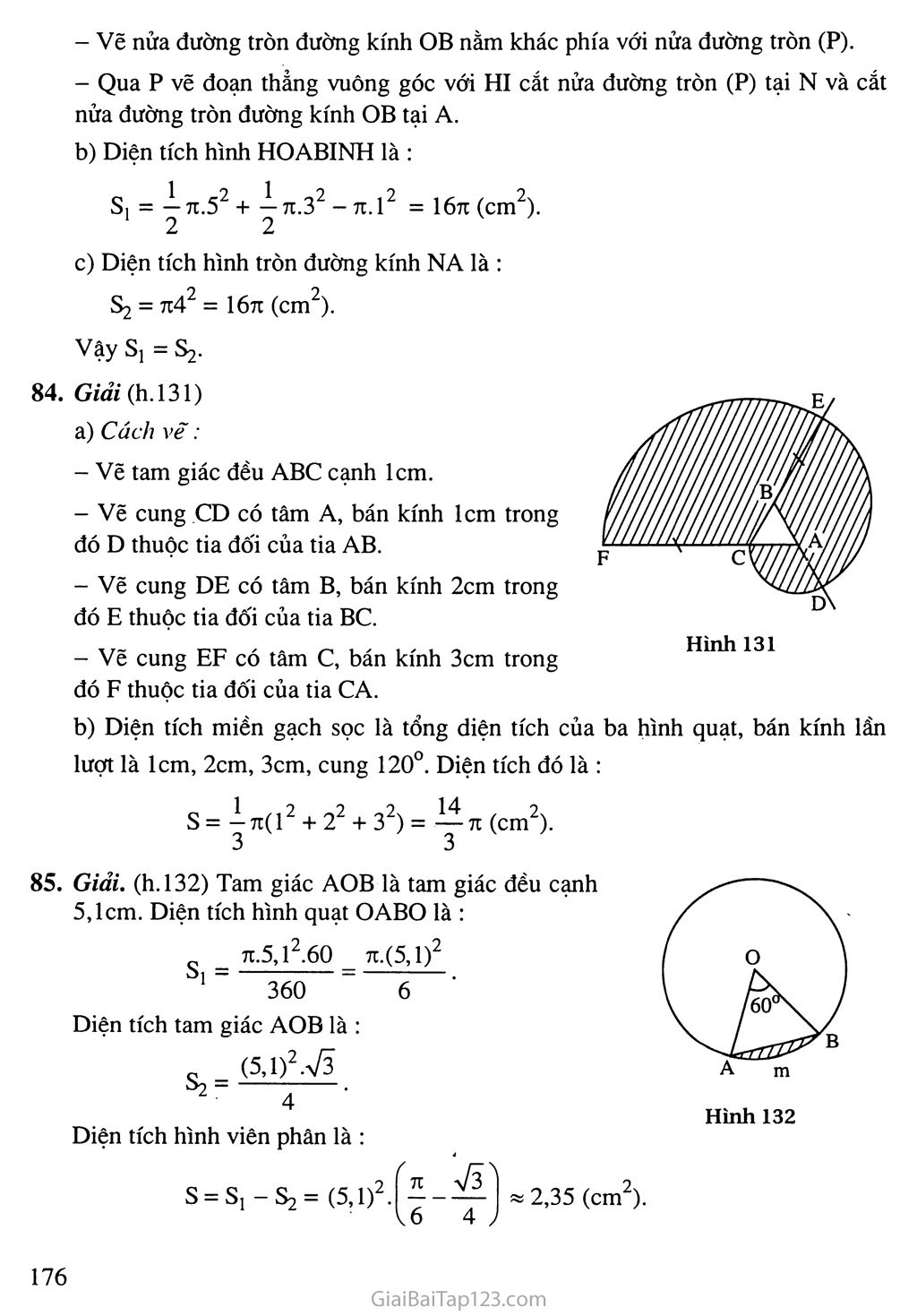 Bài 10. Diện tích hình tròn, hình quạt tròn trang 4