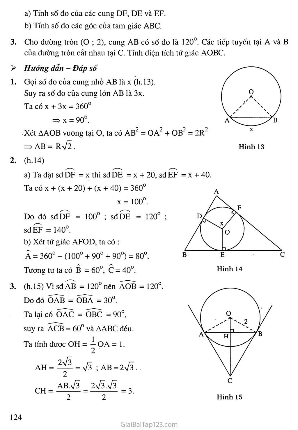 Bài 1. Góc ở tâm. Số đo cung trang 5