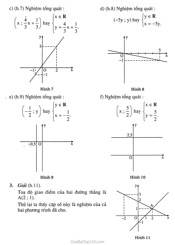 Bài 1. Phương trình bậc nhất hai ẩn trang 7