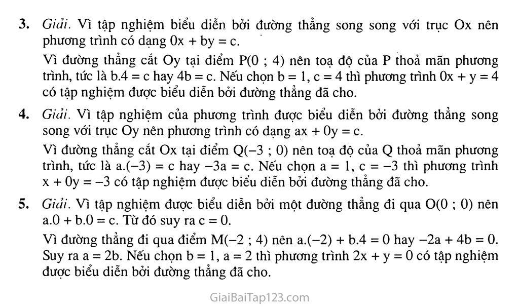 Bài 1. Phương trình bậc nhất hai ẩn trang 9