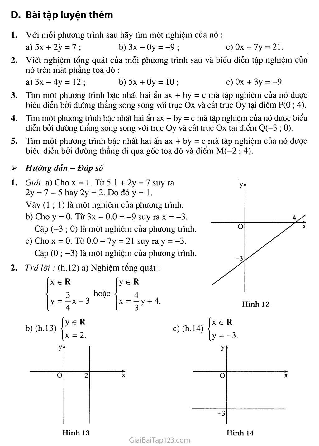 Bài 1. Phương trình bậc nhất hai ẩn trang 8