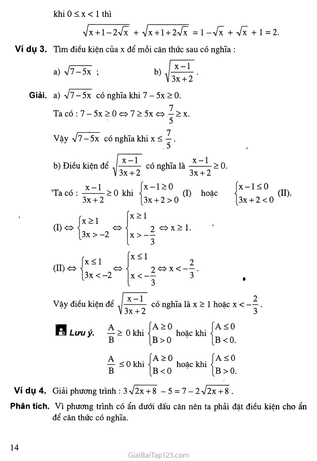 Bài 2. Căn thức bậc hai và hằng đẳng thức trang 3