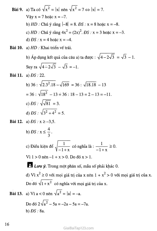 Bài 2. Căn thức bậc hai và hằng đẳng thức trang 5