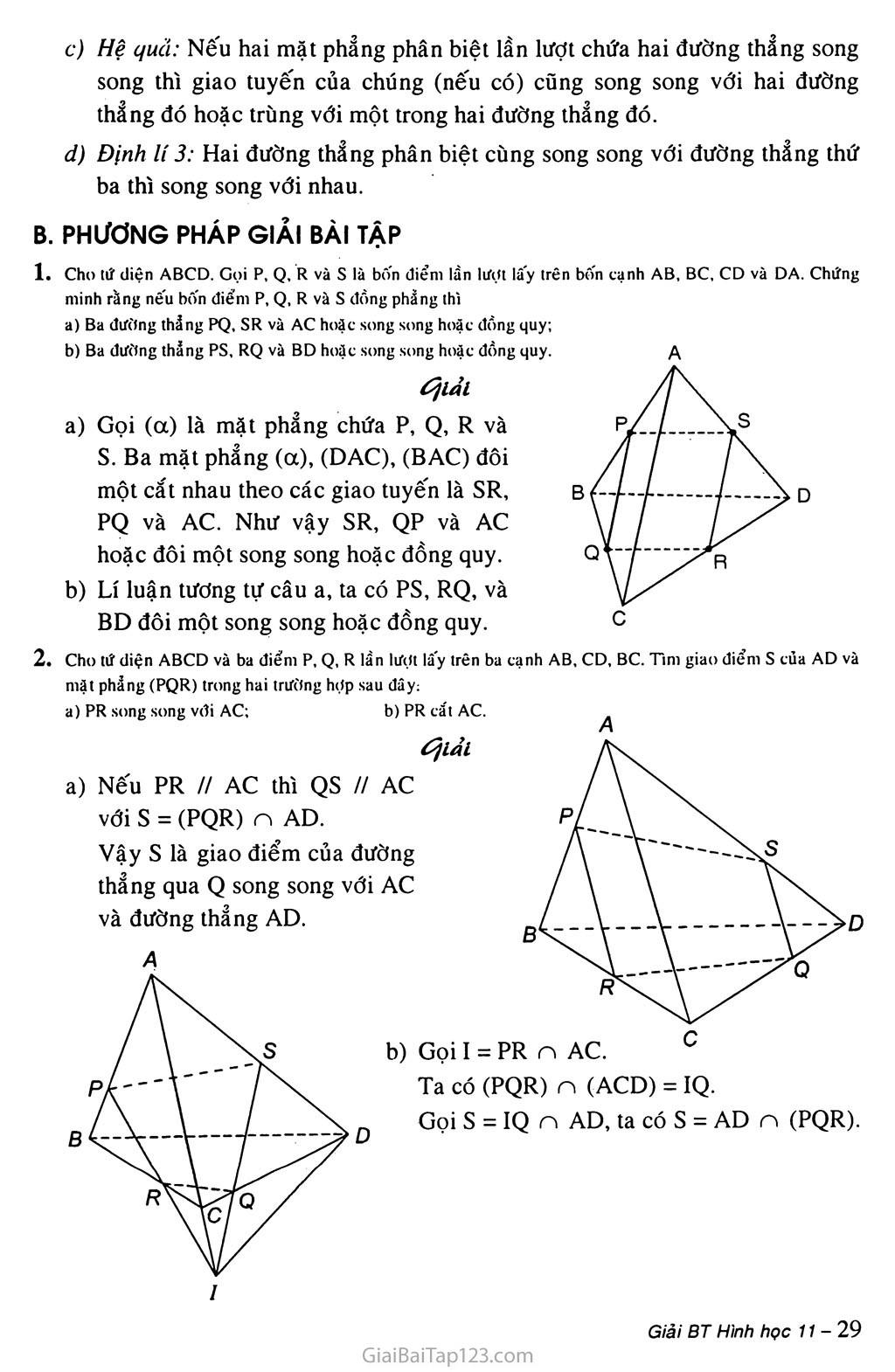 Bài 2. Hai đường thẳng chéo nhau và hai đường thẳng song song trang 2