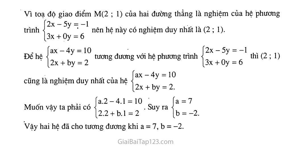 Bài 2. Hệ hai phương trình bậc nhất hai ẩn trang 10