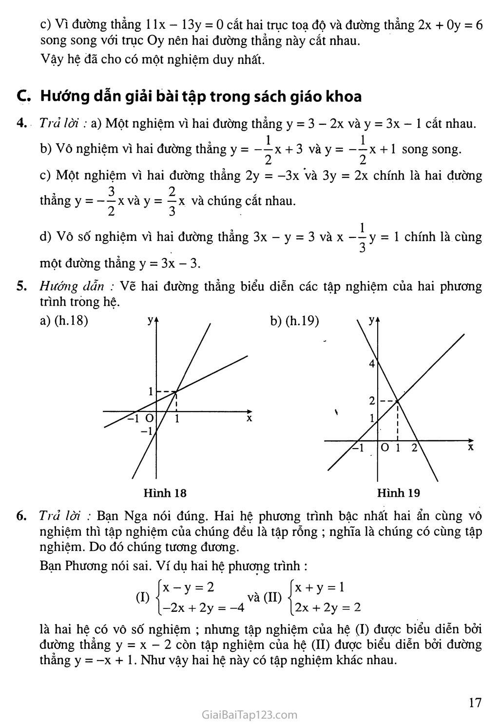 Bài 2. Hệ hai phương trình bậc nhất hai ẩn trang 5