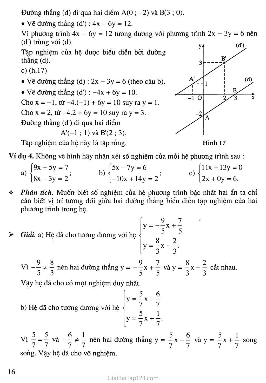 Bài 2. Hệ hai phương trình bậc nhất hai ẩn trang 4