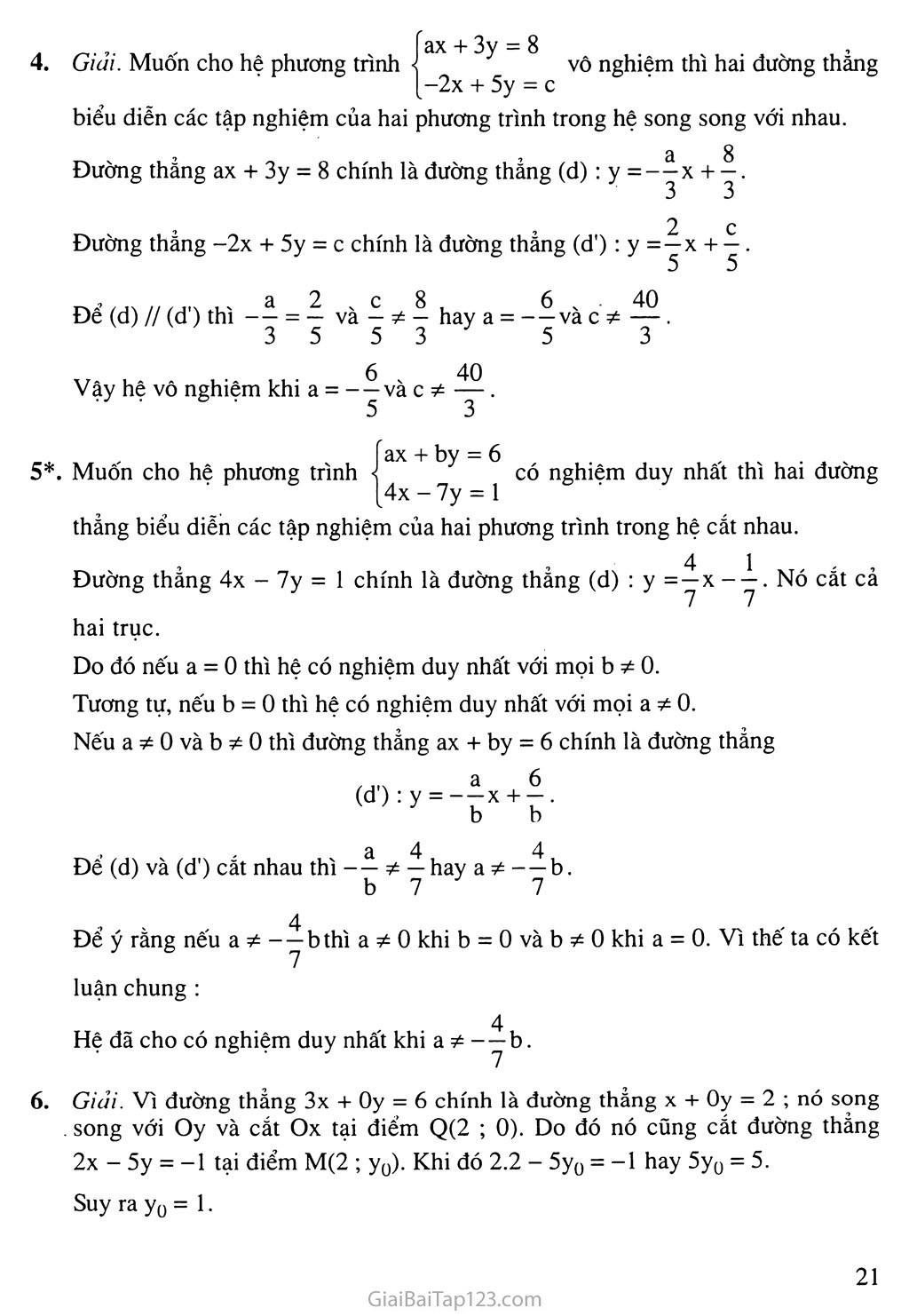 Bài 2. Hệ hai phương trình bậc nhất hai ẩn trang 9