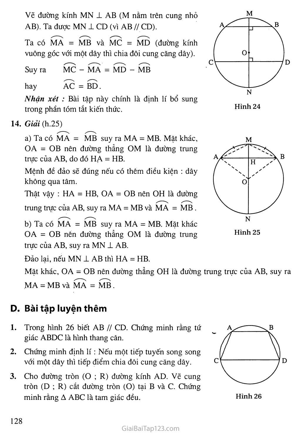 Bài 2. Liên hệ giữa cung và đây trang 4