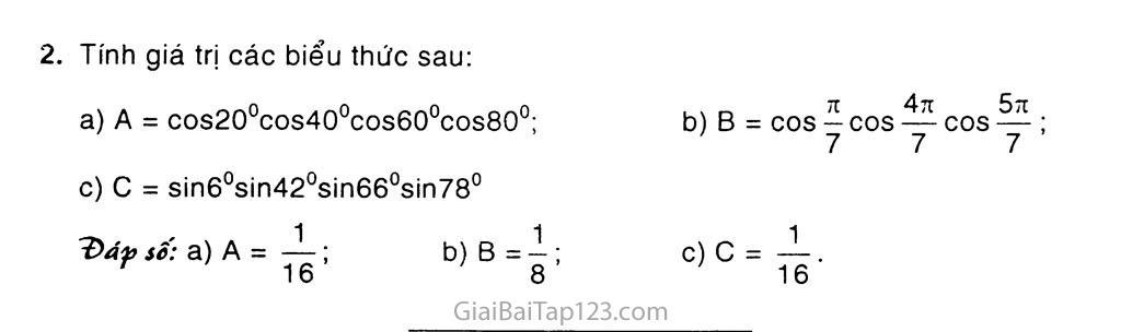 Bài 3. Công thức lượng giác trang 7
