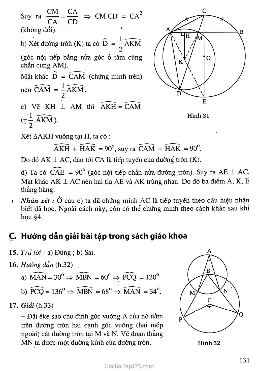 Bài 3. Góc nội tiếp trang 2
