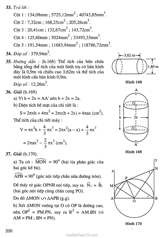 Bài 3. Hình cầu - Diện tích mặt cầu và thể tích mặt cầu trang 3