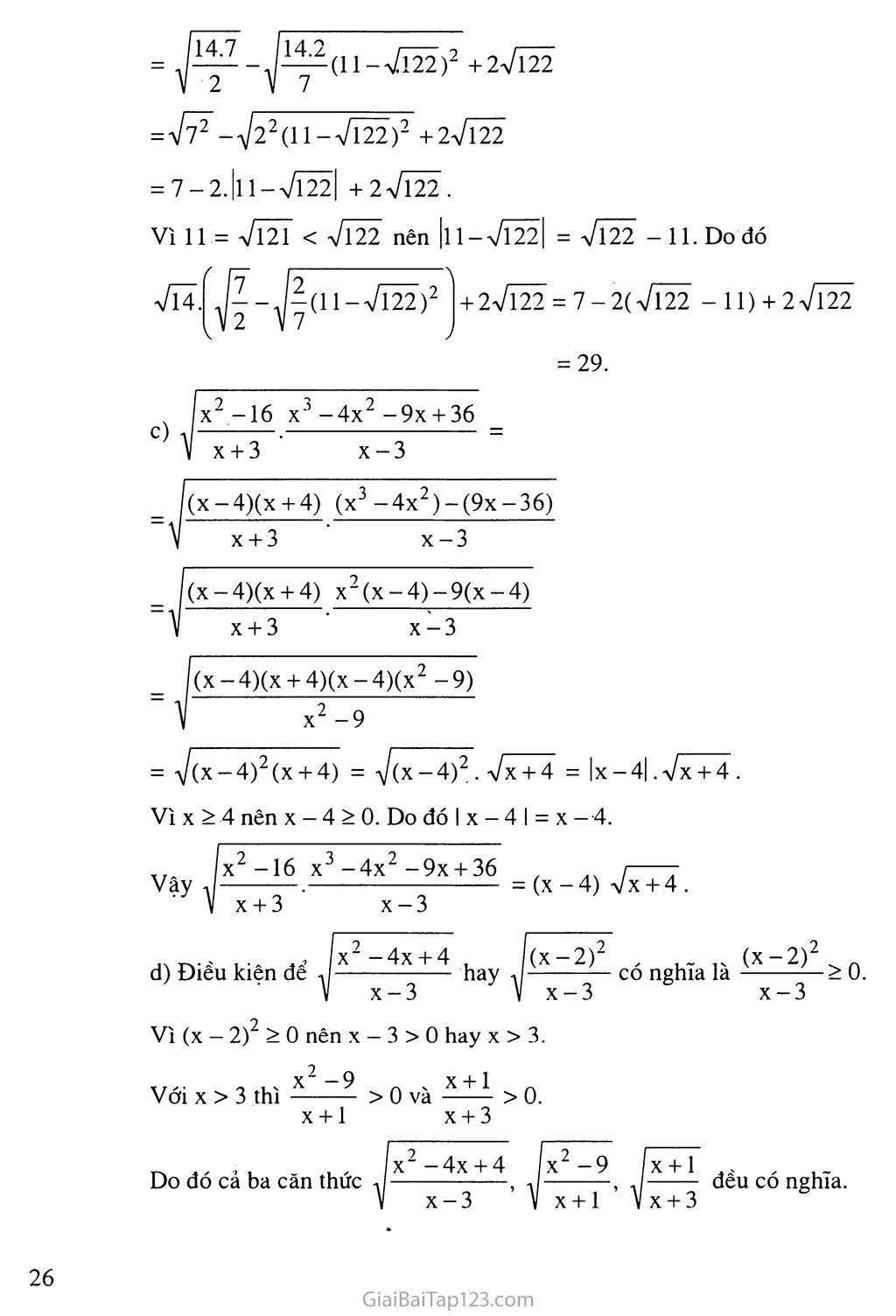 Bài 3.  Liên hệ giữa phép nhân và phép khai phương trang 7