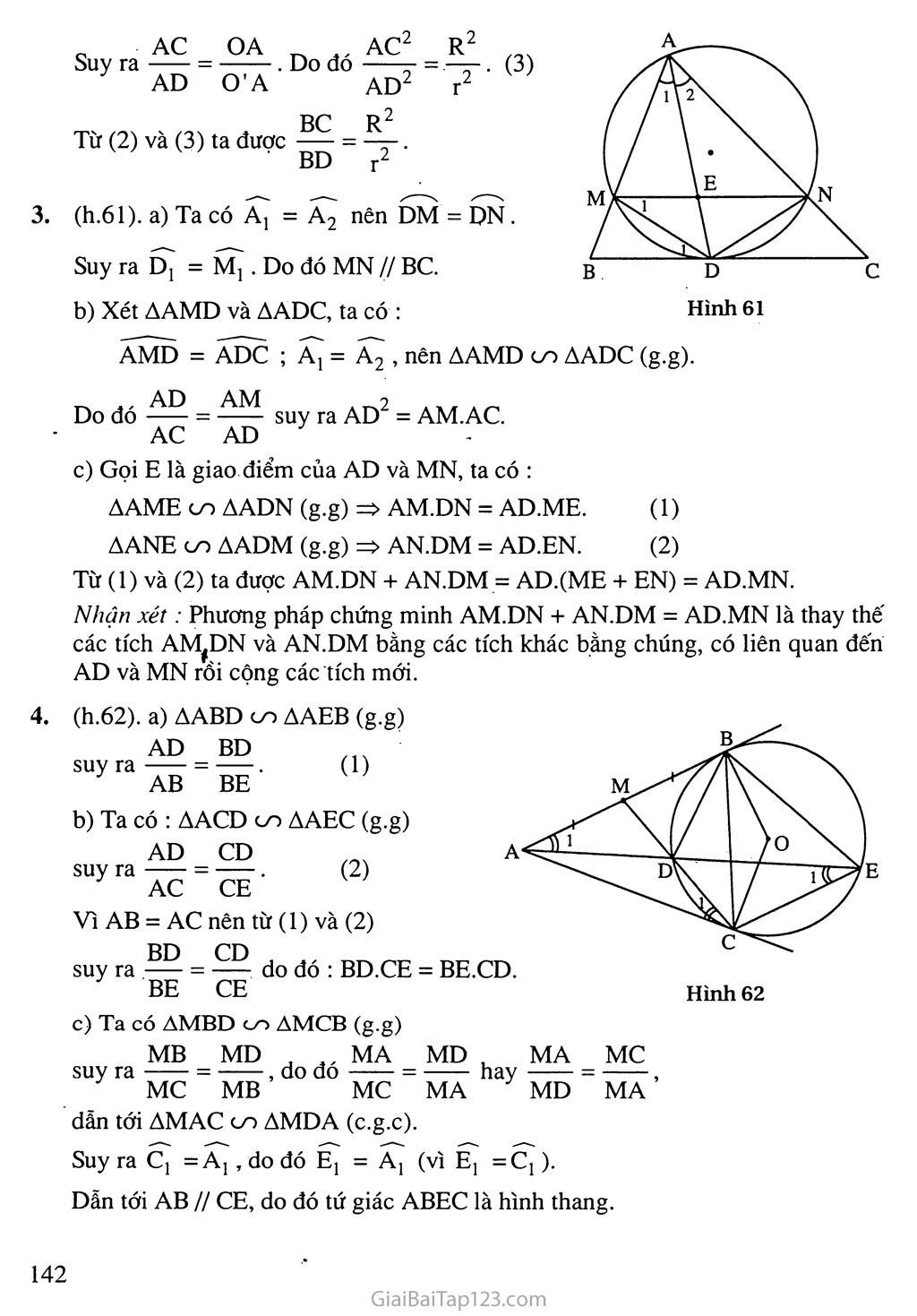 Bài 4. Góc tạo bởi tia tiếp tuyến và dây cung trang 6