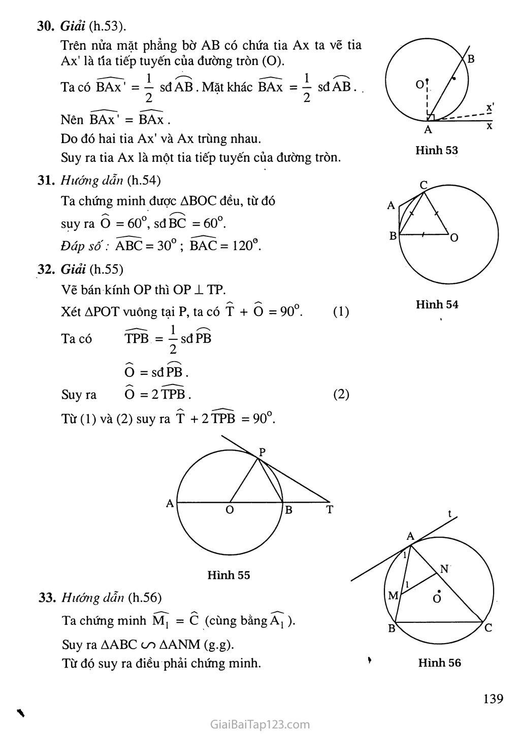 Bài 4. Góc tạo bởi tia tiếp tuyến và dây cung trang 3