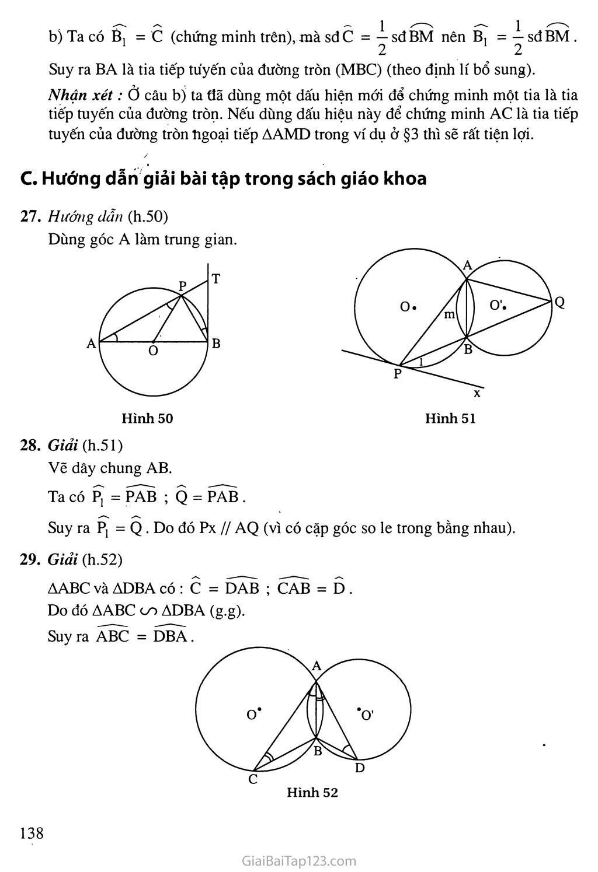 Bài 4. Góc tạo bởi tia tiếp tuyến và dây cung trang 2