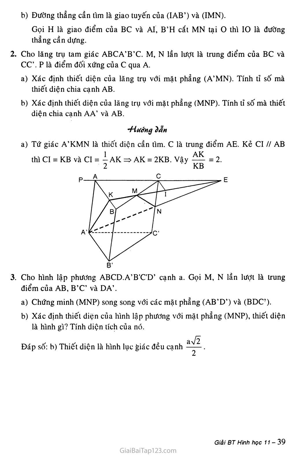 Bài 4. Hai mặt phẳng song song trang 6