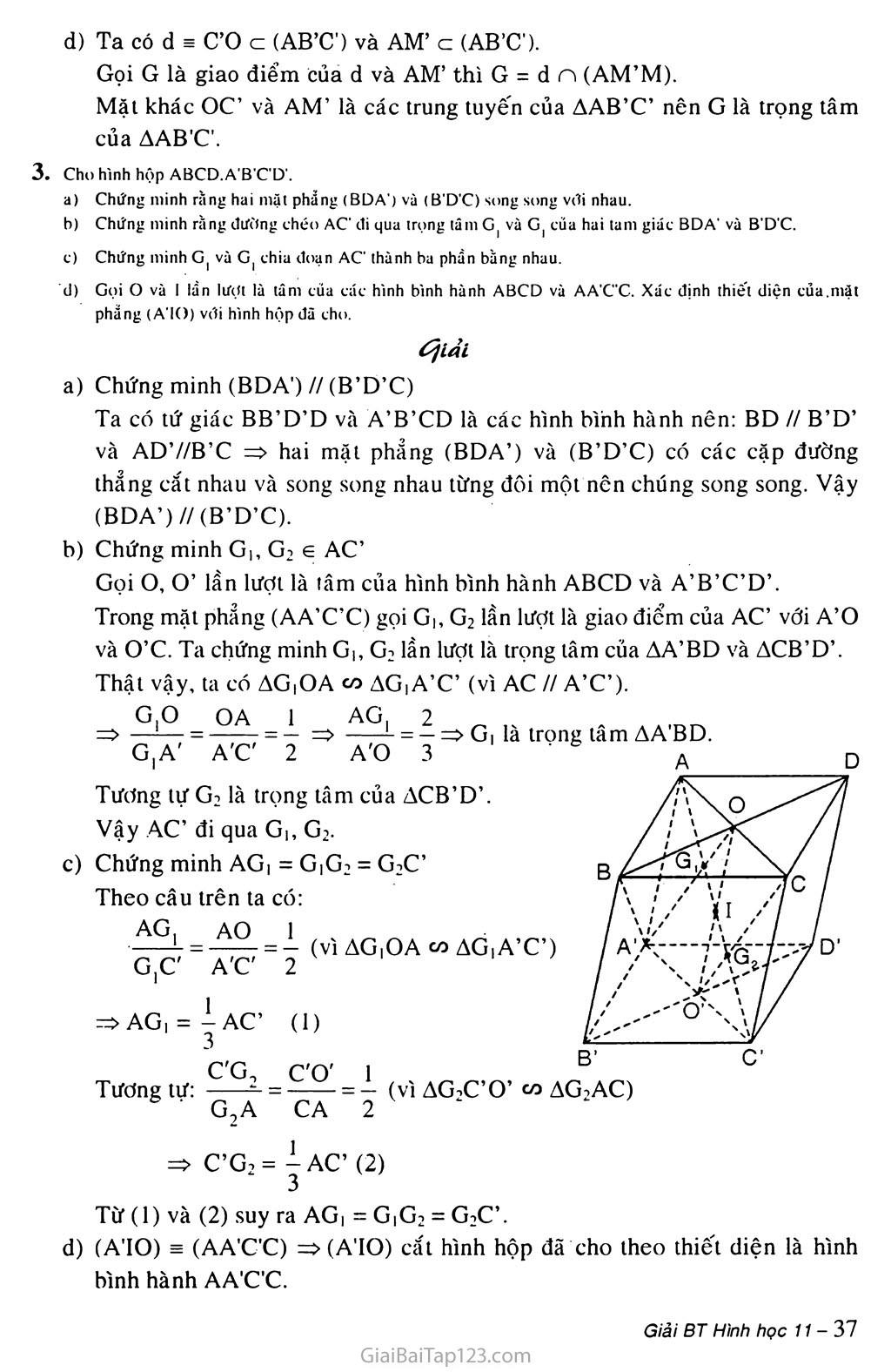 Bài 4. Hai mặt phẳng song song trang 4