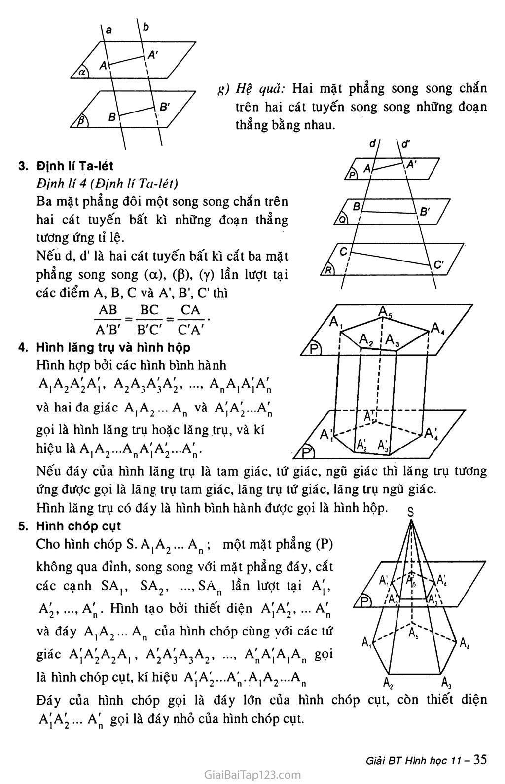 Bài 4. Hai mặt phẳng song song trang 2