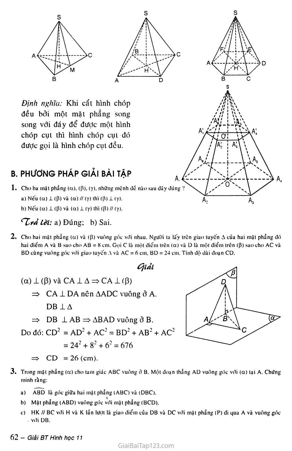 Bài 4. Hai mặt phẳng vuông góc trang 3