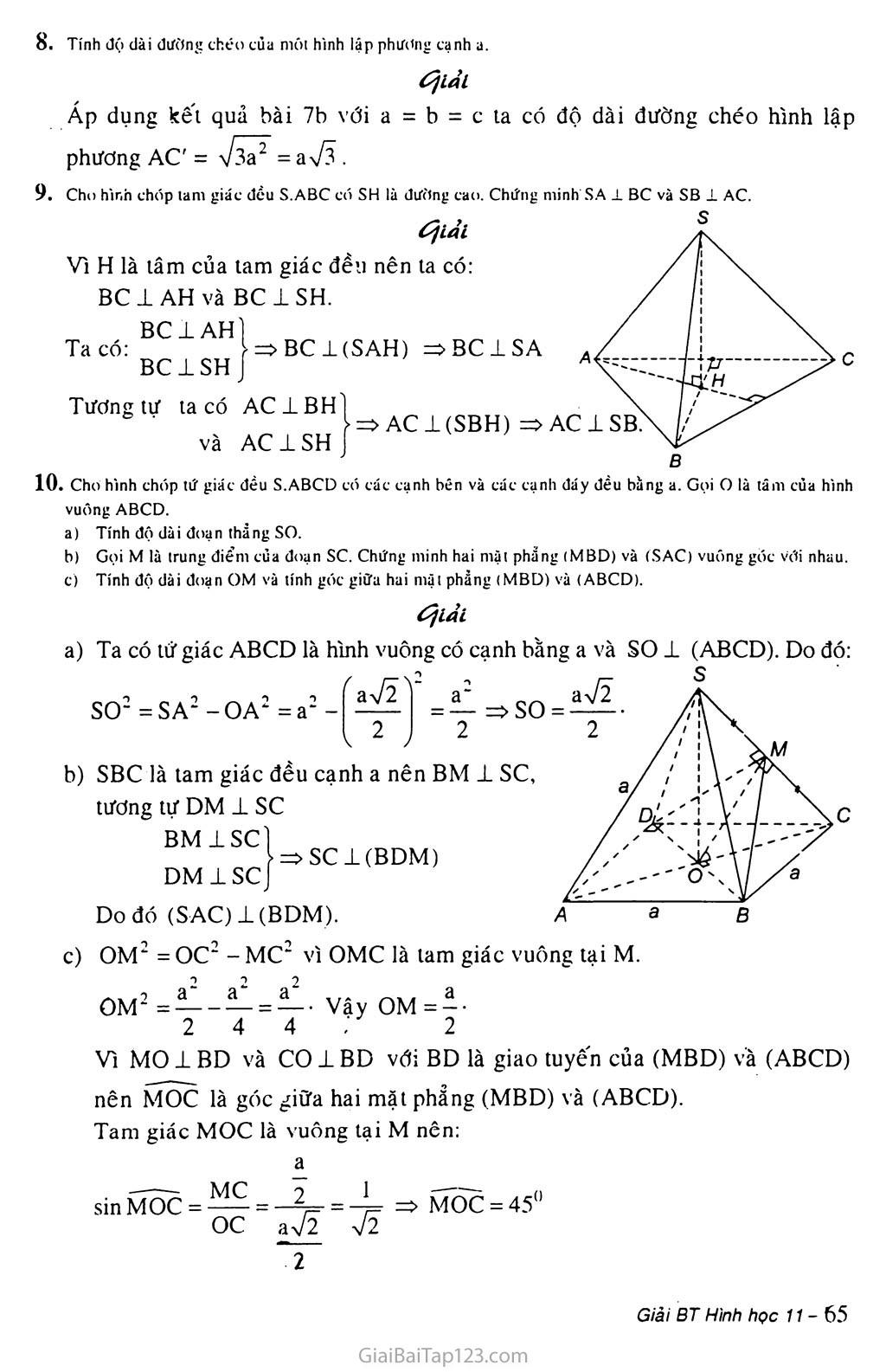 Bài 4. Hai mặt phẳng vuông góc trang 6