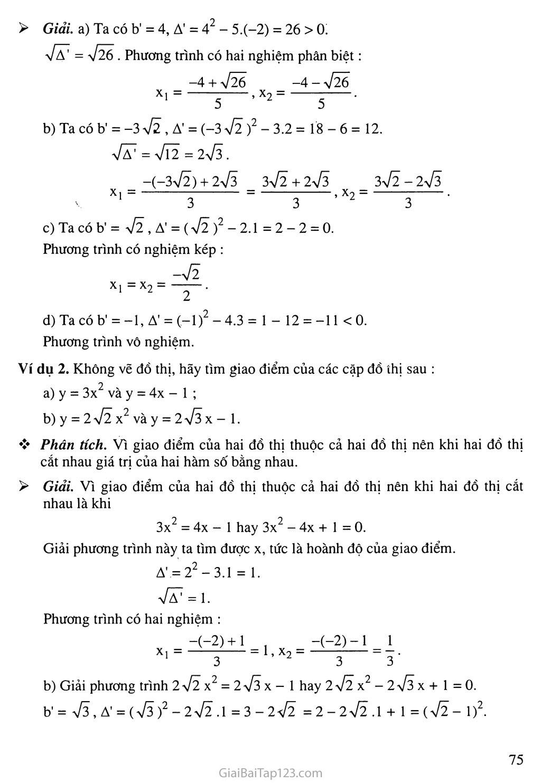 Bài 5. Công thức nghiệm thu gọn trang 2