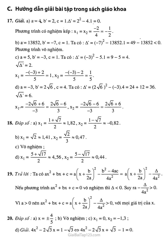 Bài 5. Công thức nghiệm thu gọn trang 4