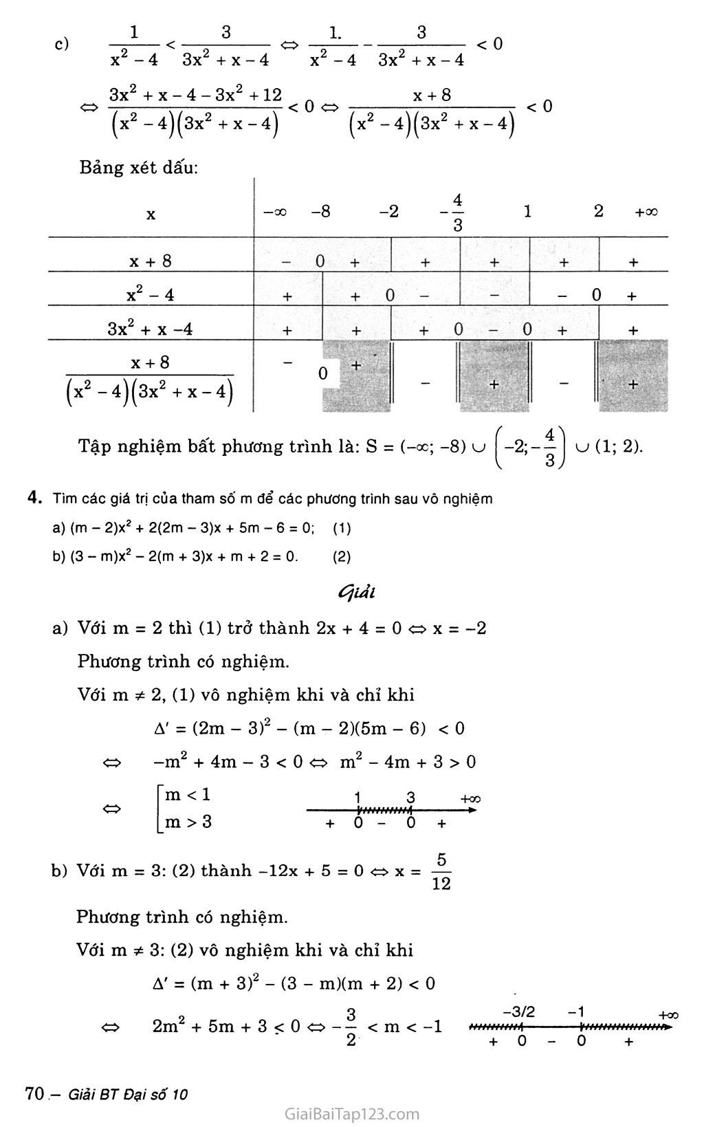 Bài 5. Dấu của tam thức bậc hai trang 5