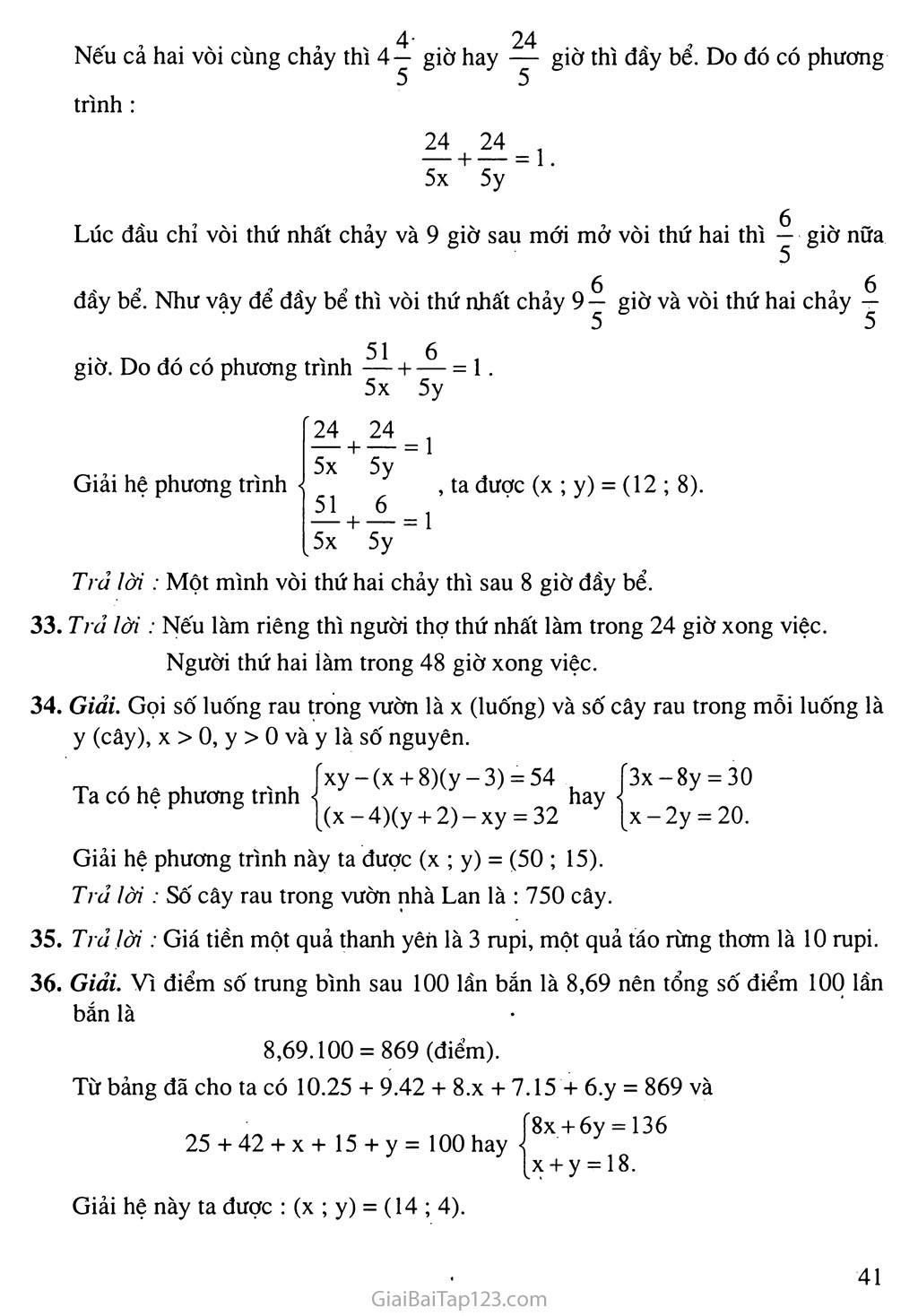 Bài 5. Giải bài toán bằng cách lập hệ phương trình trang 6