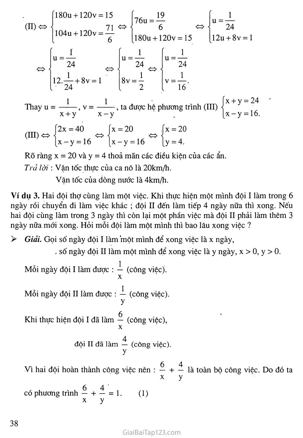 Bài 5. Giải bài toán bằng cách lập hệ phương trình trang 3