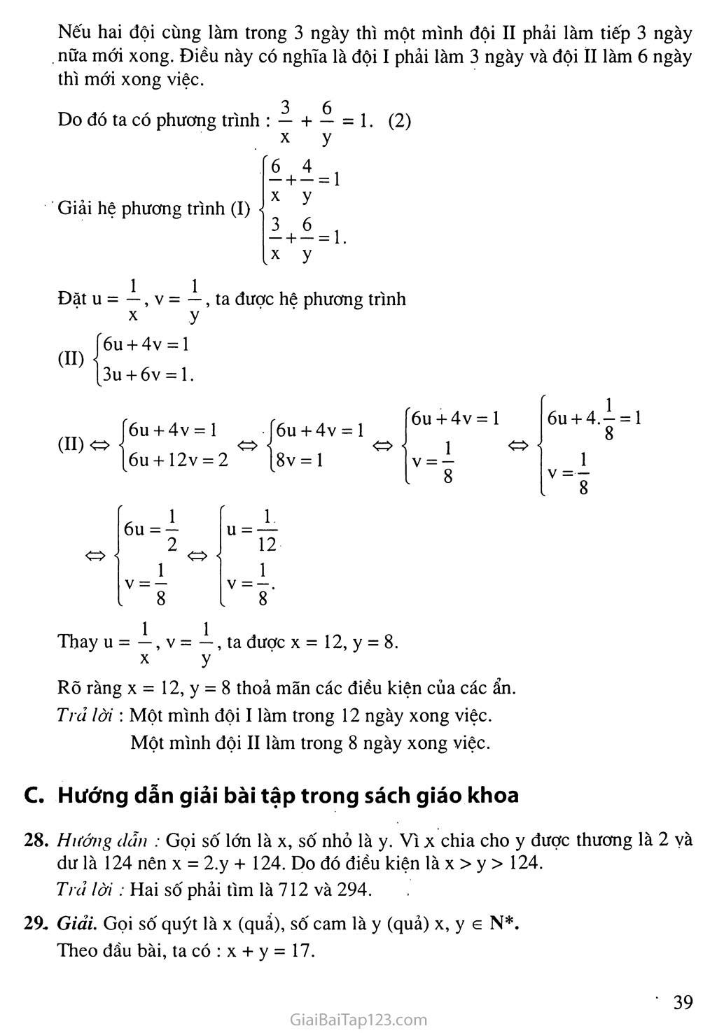 Bài 5. Giải bài toán bằng cách lập hệ phương trình trang 4