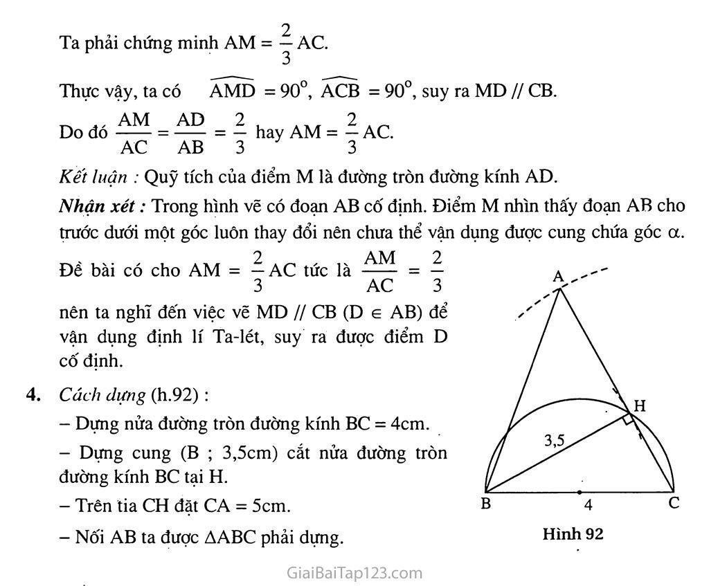 Bài 6. Cung chứa góc trang 9