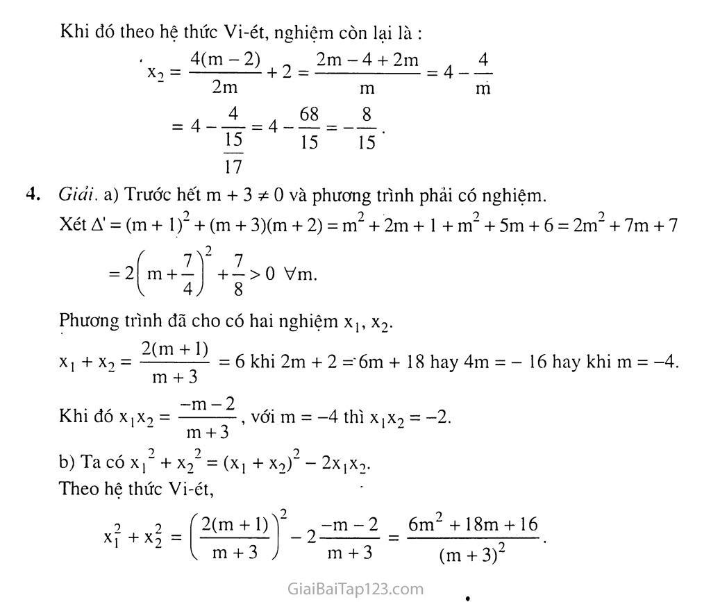 Bài 6. Hệ thức Vi-ét và ứng dụng trang 8