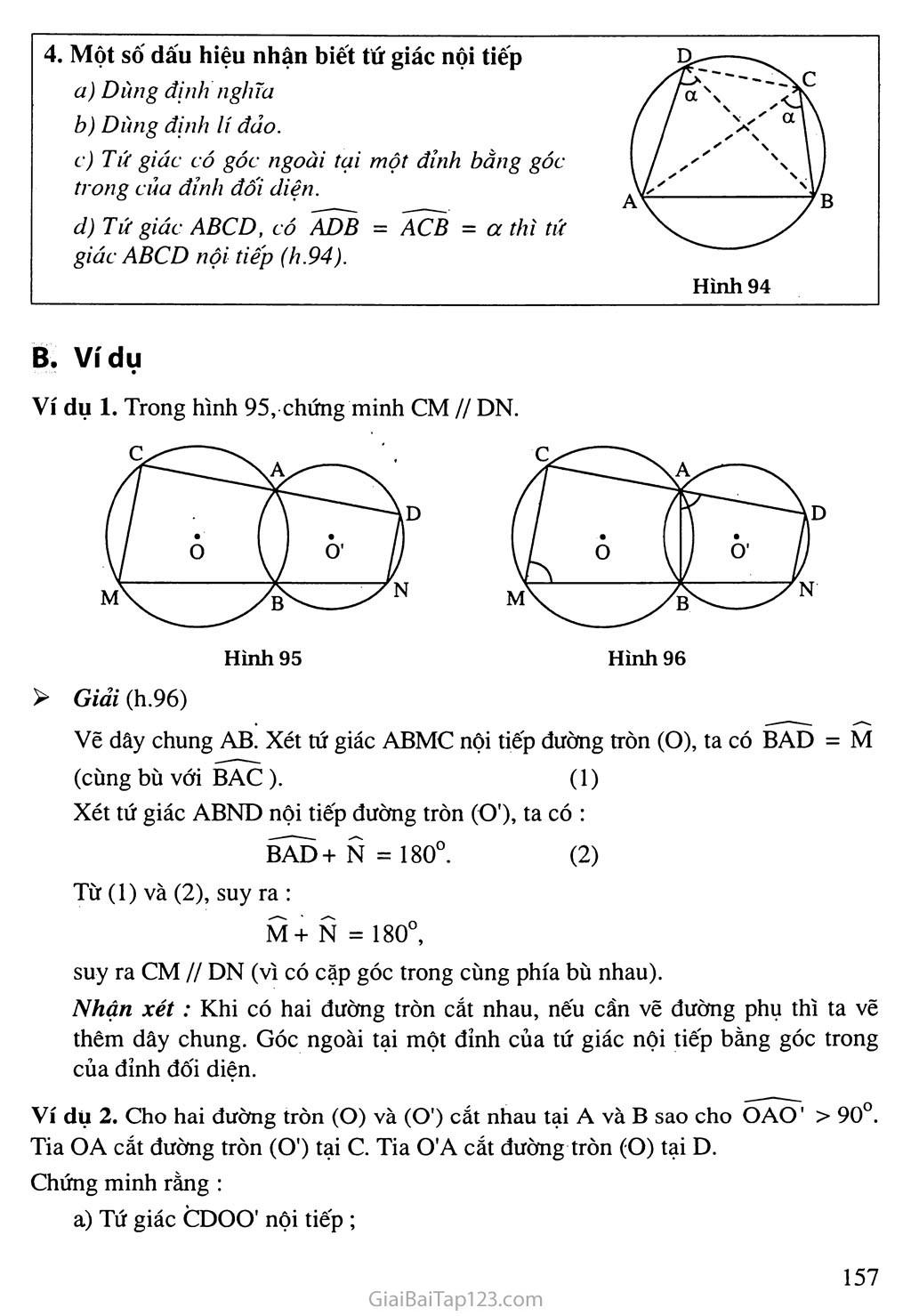 Bài 7. Tứ giác nội tiếp trang 2