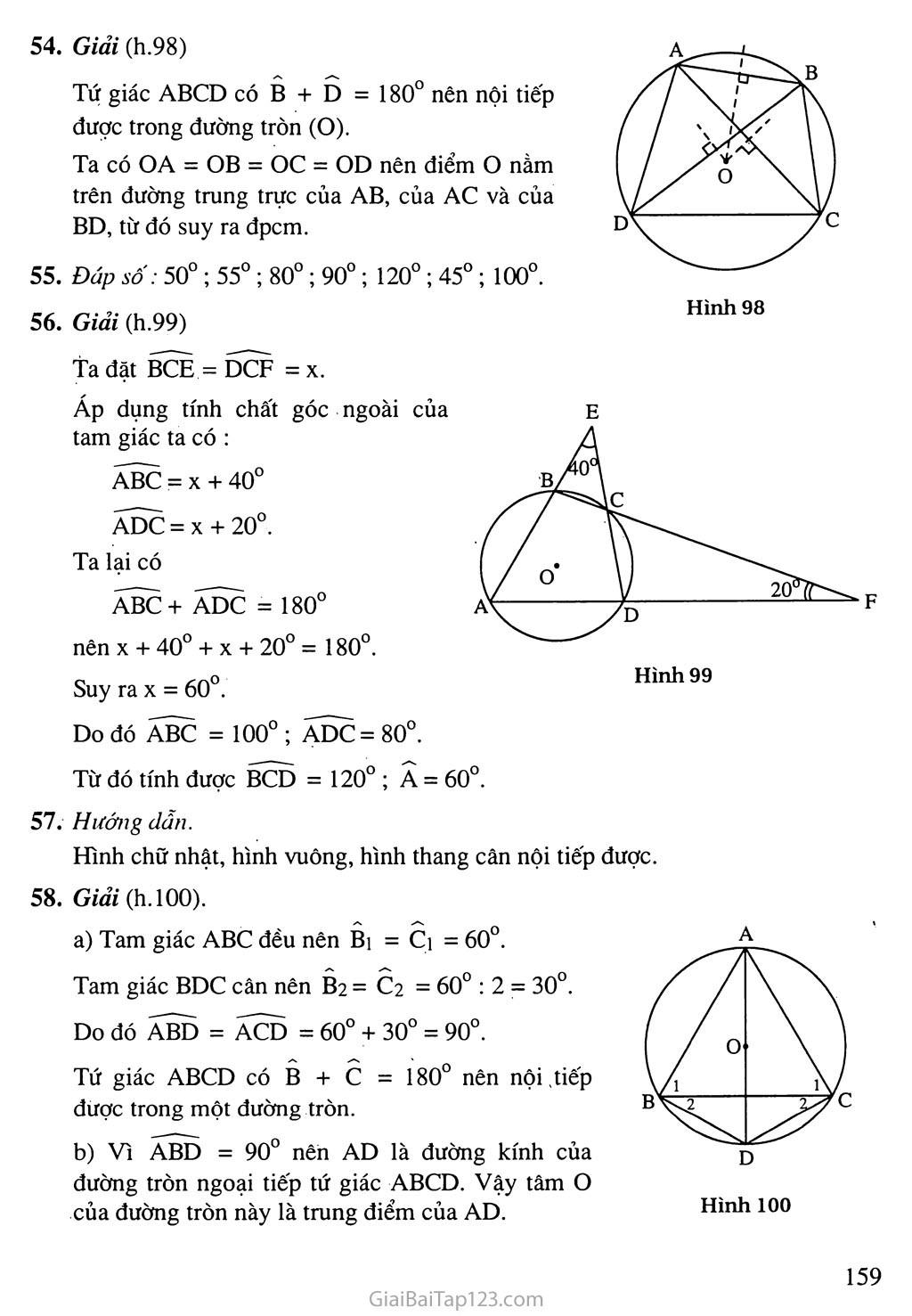 Bài 7. Tứ giác nội tiếp trang 4