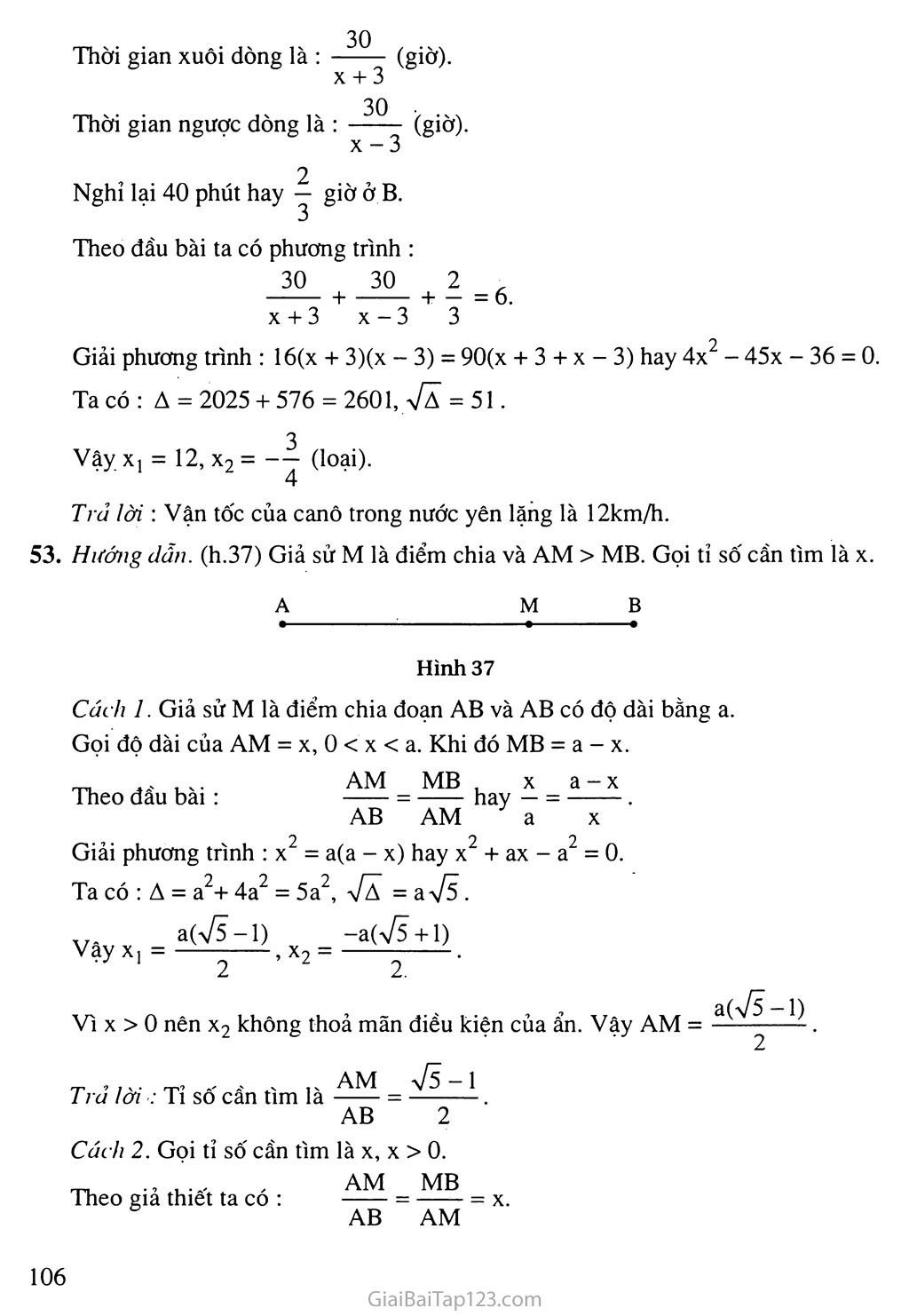 Bài 8. Giải bài toán bằng cách lập phương trình trang 8
