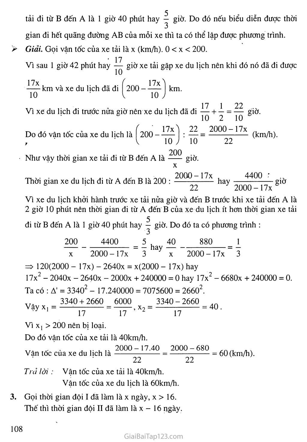 Bài 8. Giải bài toán bằng cách lập phương trình trang 10