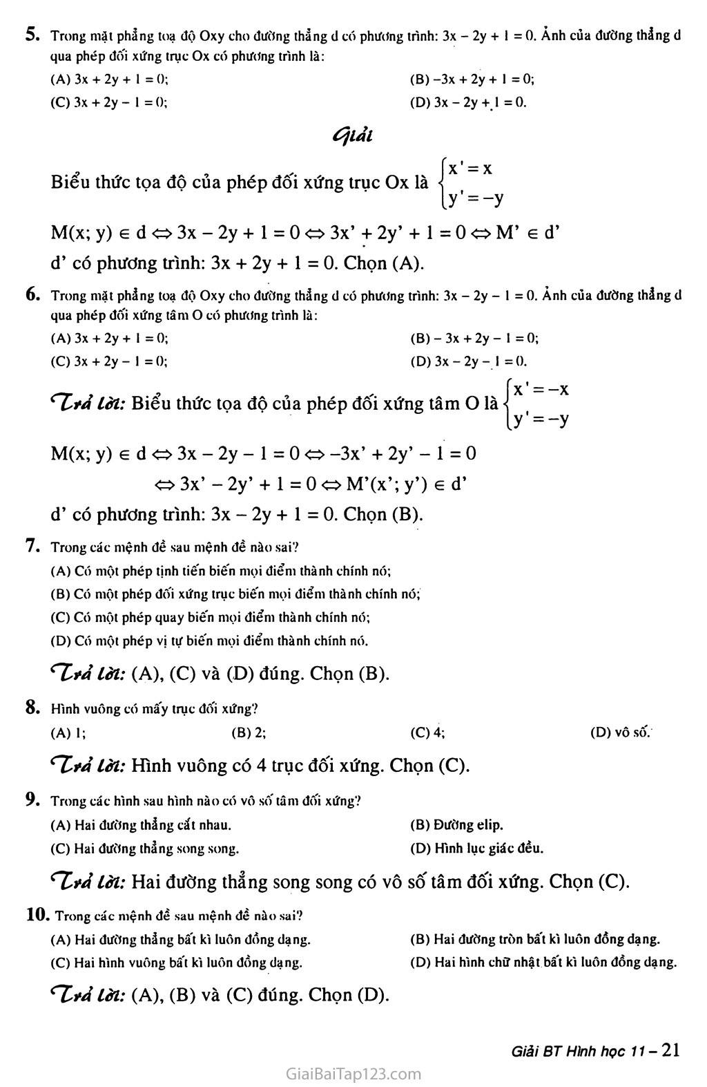 Câu hỏi trắc nghiệm chương I trang 2