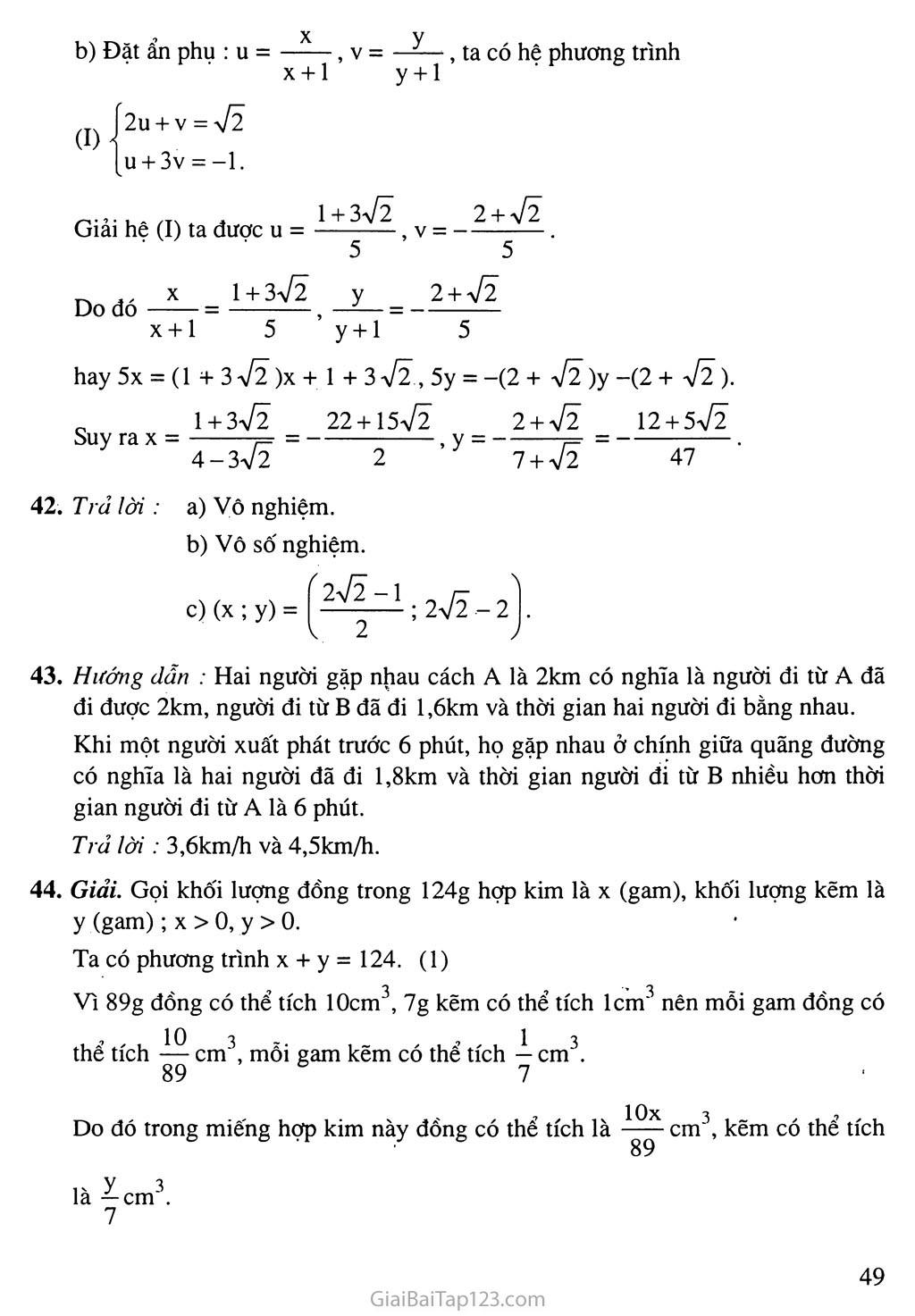 Ôn tập chương III trang 5