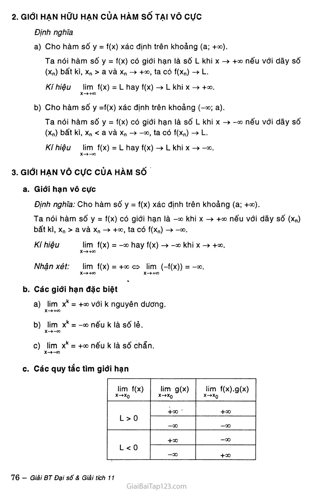 Bài 2. Giới hạn của hàm số trang 2