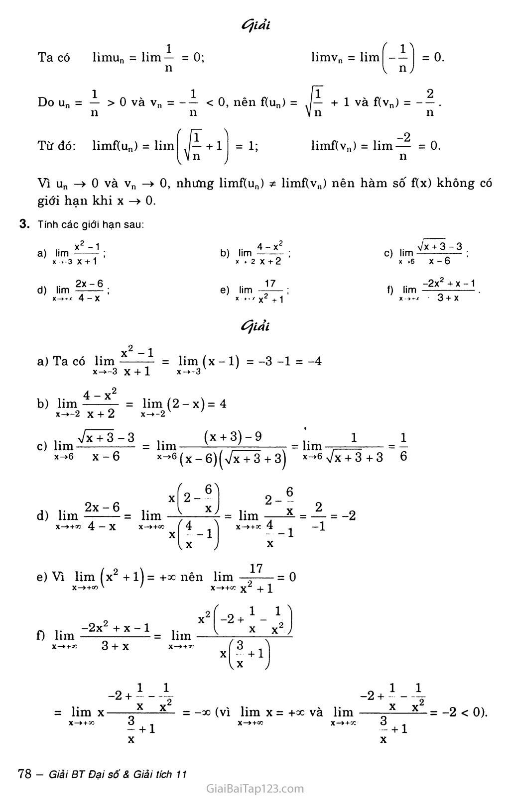 Bài 2. Giới hạn của hàm số trang 4