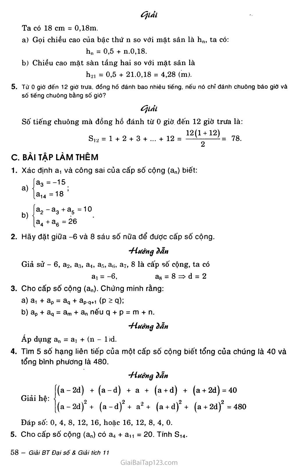 Bài 3. Cấp số cộng trang 4