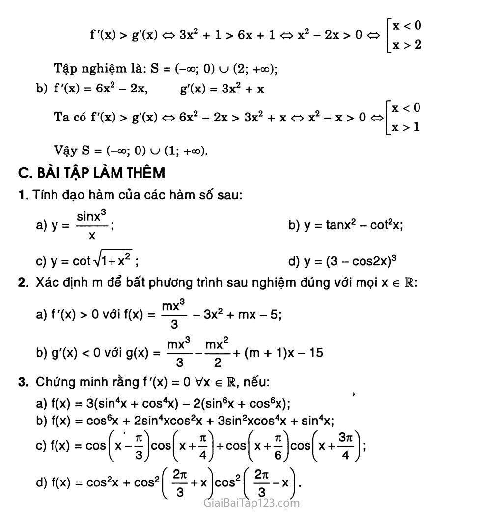 Bài 3. Đạo hàm của hàm số lượng giác trang 6