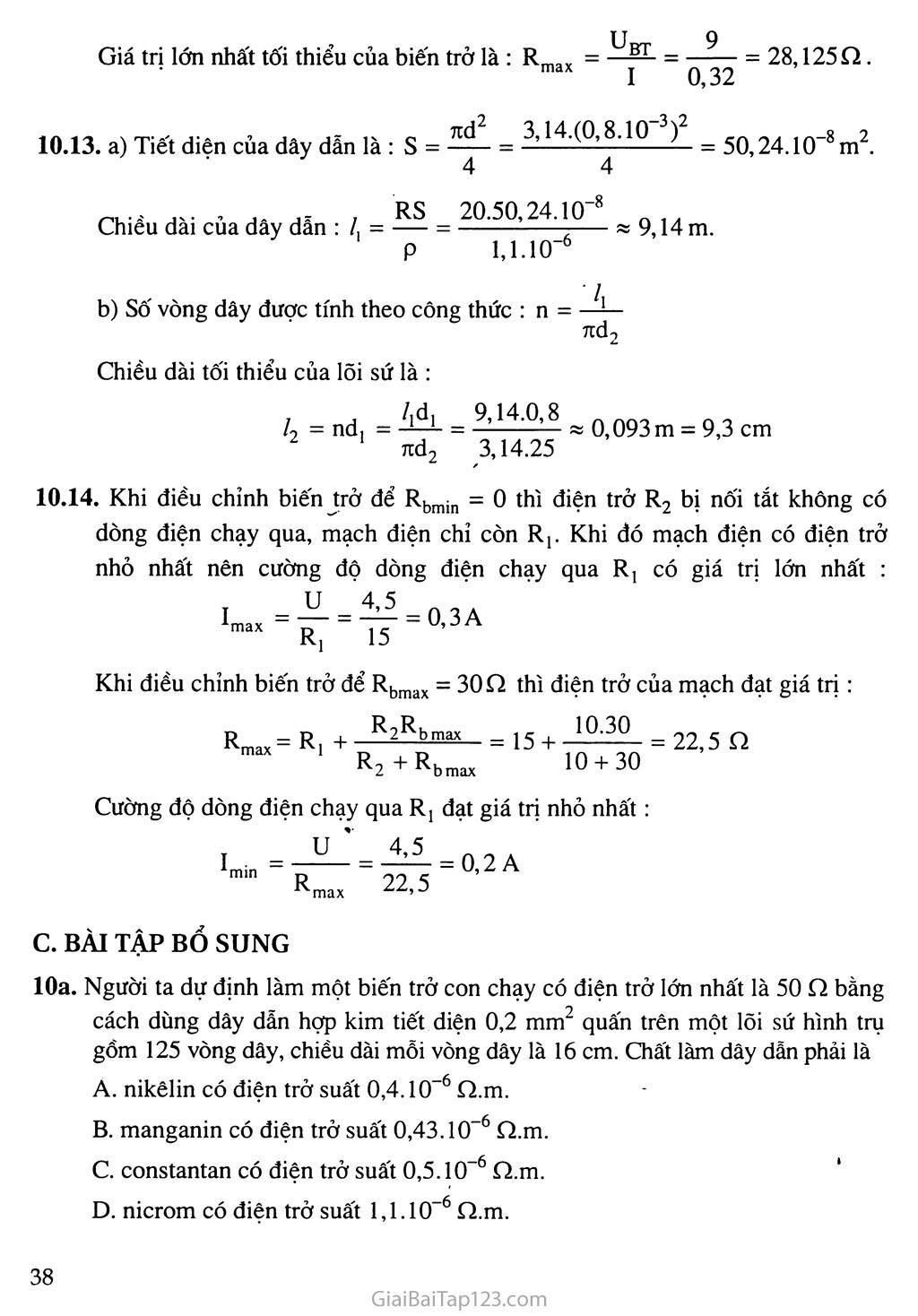 Bài 10: Biến trở - Điện trở dùng trong kĩ thuật trang 4
