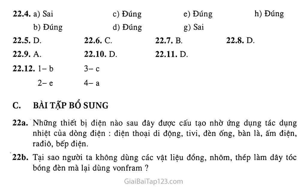 Bài 22: Tác dụng nhiệt và tác dụng phát sáng của dòng điện trang 3