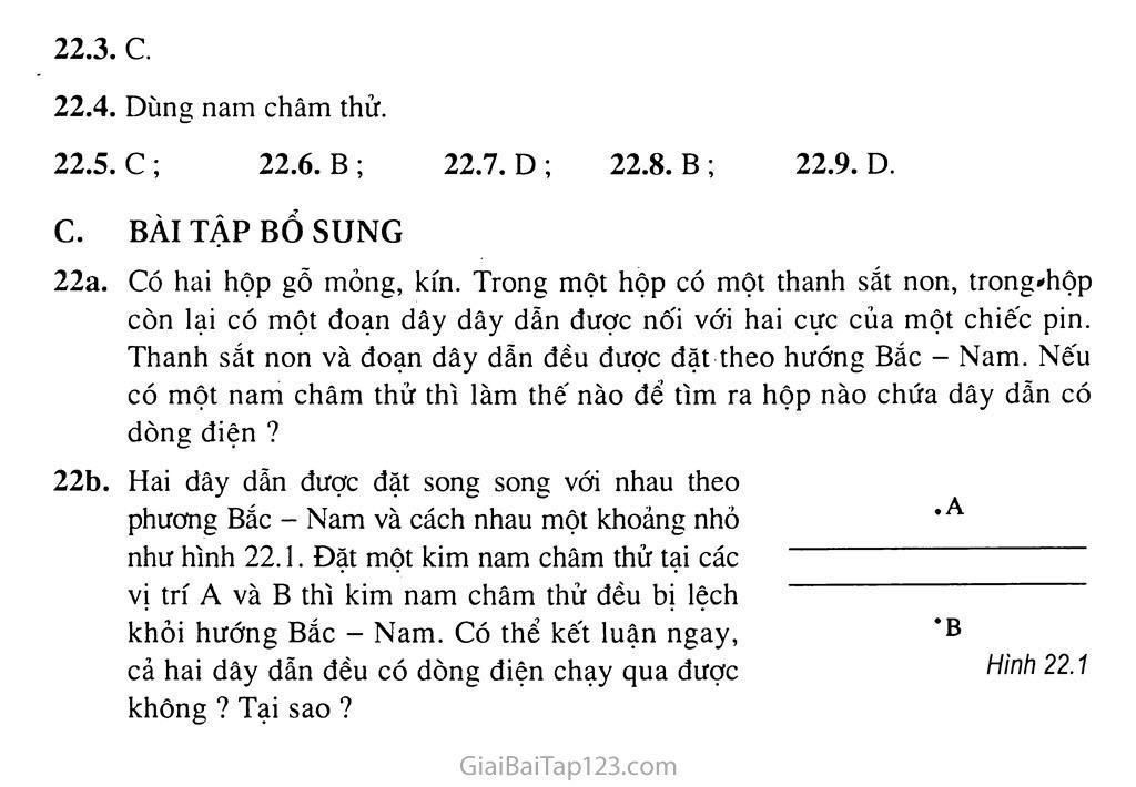 Bài 22: Tác dụng từ của dòng điện - Từ trường trang 2