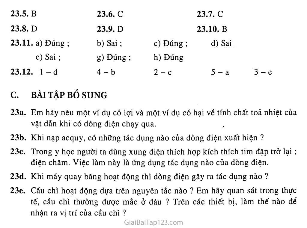 Bài 23: Tác dụng từ, tác dụng hóa học và tác dụng sinh lí của dòng điện trang 3