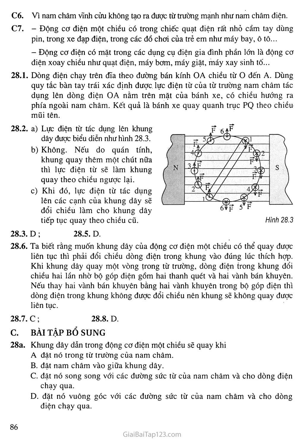 Bài 28: Động cơ điện một chiều trang 2