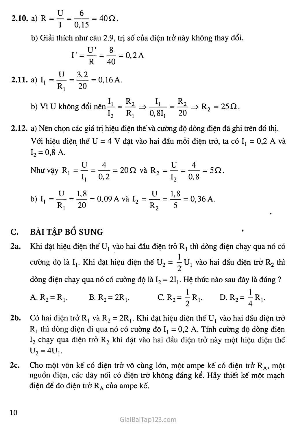 Bài 2: Điện trở của dây dẫn - Định luật Ôm trang 3