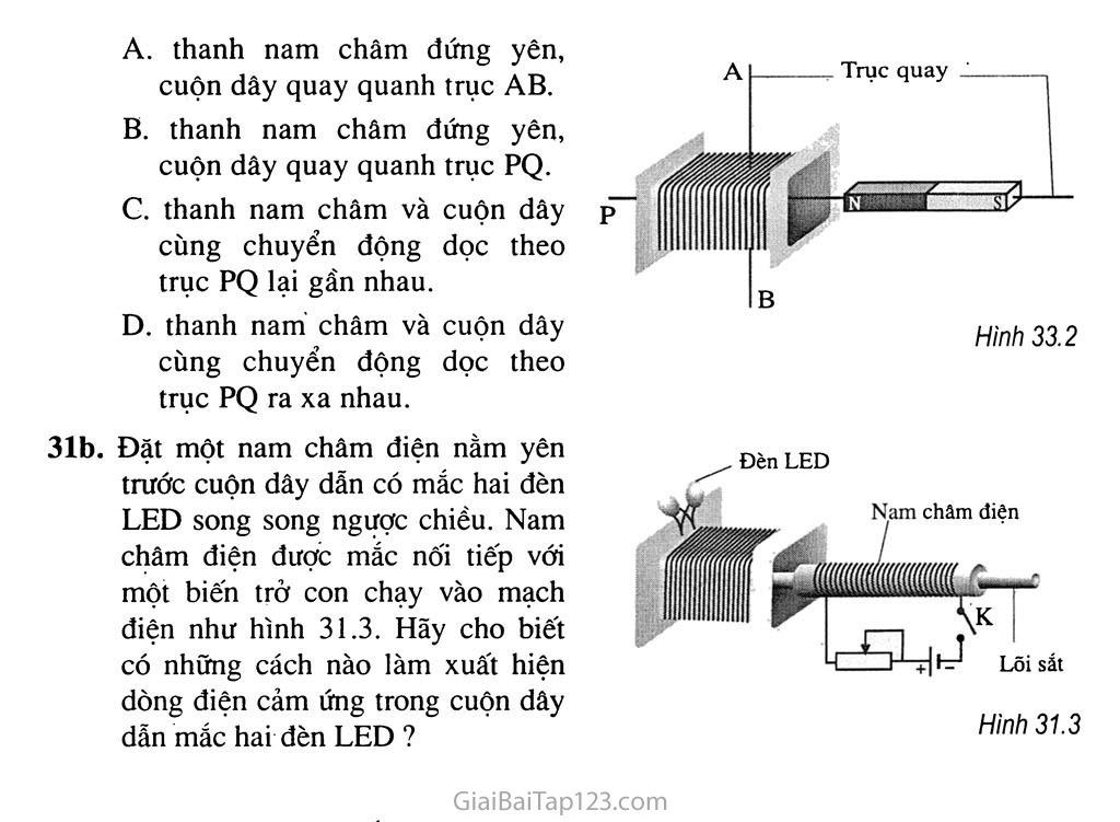 Bài 31: Hiện tượng cảm ứng điện từ trang 3